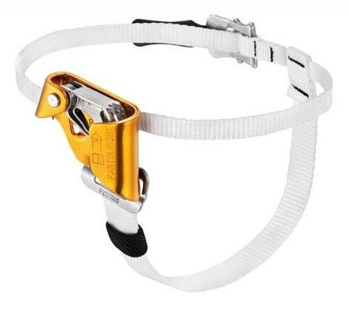 Výstupový blokant na nohu pro textilní lana